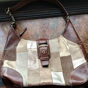 Genuine coach patchwork hobo purse vintage nice!!!